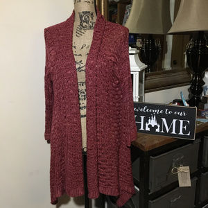 A.N.A Red Knit Cardigan